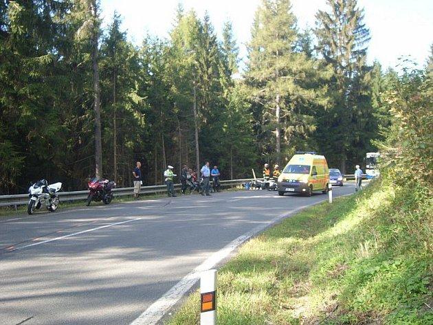 Srážka motorkářů u Sobotína