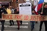 Za nezávislot justice. Pochod a demonstrace v Olomouci 29.4.2019