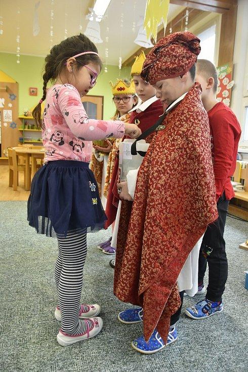 Tříkrálová sbírka v olomoucké Mateřské škole Lužická, 7. 1. 2020