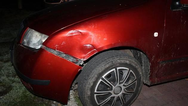 Opilý řidič narazil do sloupu na čerpací stanici v Olomouci, 23. 3. 2019