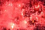 Finále fotbalového poháru MOL Cupu: FC Baník Ostrava - SK Slavia Praha, 22. května 2019 v Olomouci. Fanoušci Baníku.