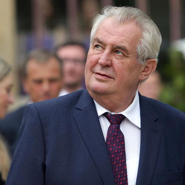 Prezident Miloš Zeman v Čechách pod Kosířem. Ilustrační foto