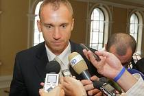 Petr Drobisz u okresního soudu v Olomouci
