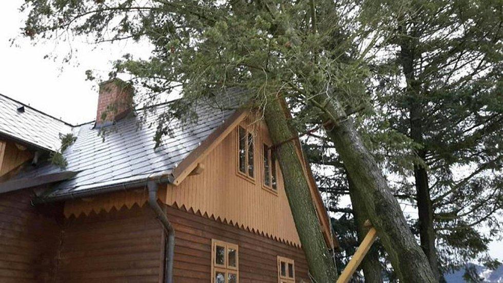 Následky vichru v Olomouckém kraji, 10.2.2020