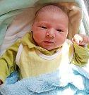 Jan Bureš, Moravský Beroun, narozen 13. dubna ve Šternberku, míra 47 cm, váha 3700 g