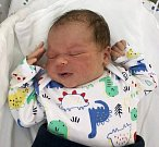 Sebastian Ďuriš, Olomouc, narozen 12. července, míra 52 cm, váha 4030 g
