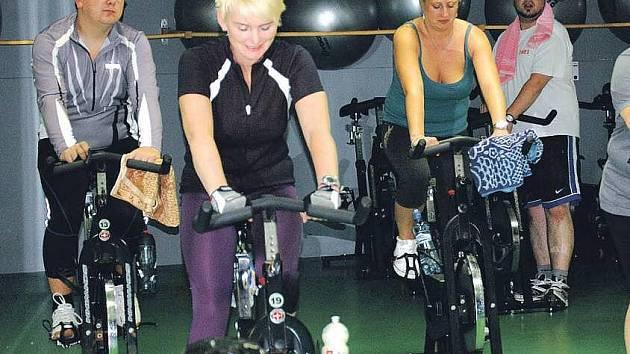 Indoor cycling v Hubnutí s Deníkem