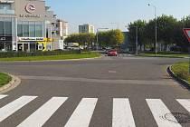 Místo incidentu v Olomouci