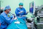 Unikátní miniinvazivní operace ucha, kterou jako jediní ve střední Evropě provádí odborníci z Otolaryngologické kliniky (ORL) Fakultní nemocnice Olomouc.