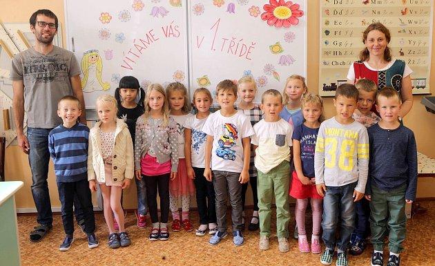 Žáci 1.Aze ZŠ sv. Voršily vOlomouci spaní učitelkou Alenou Rosovou