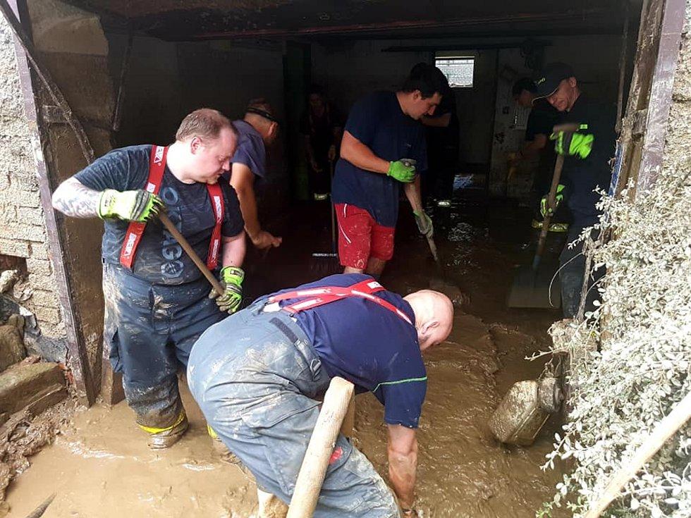 Den čtvrtý po bleskových povodních na Olomoucku a Šumpersku - likvidační práce - 11. 6. 2020