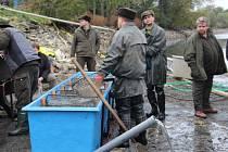 Rybí dobroty i živí šupináči lákají k Šumvaldskému rybníku na Uničovsku o tomto víkendu návštěvníky.
