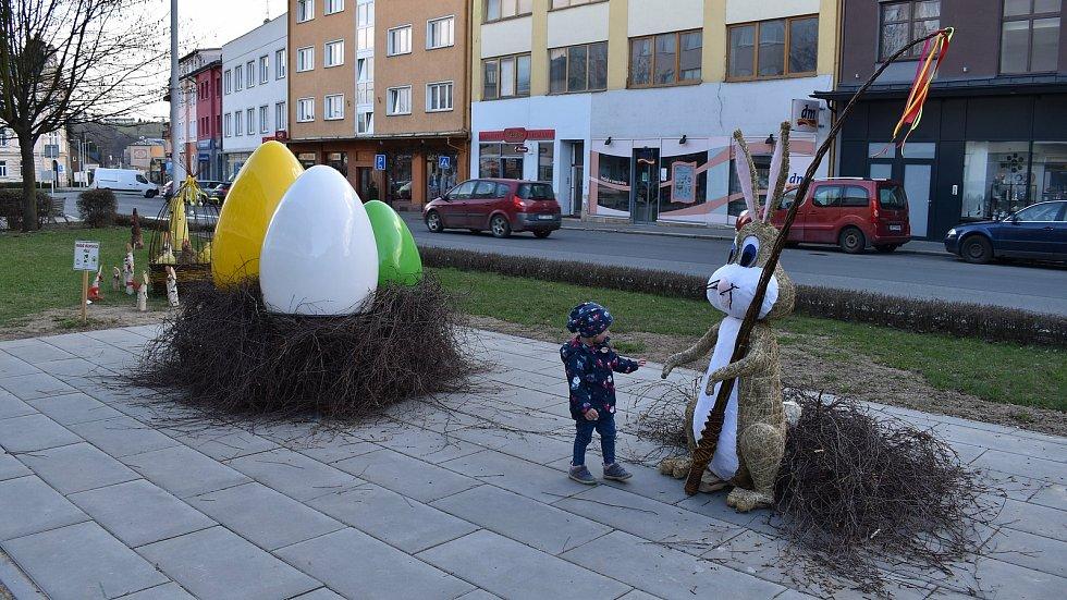 Velikonoční výzdoba v Zábřehu. Duben 2021