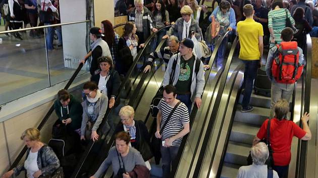 Nové eskalátory na hlavním nádraží v Olomouci