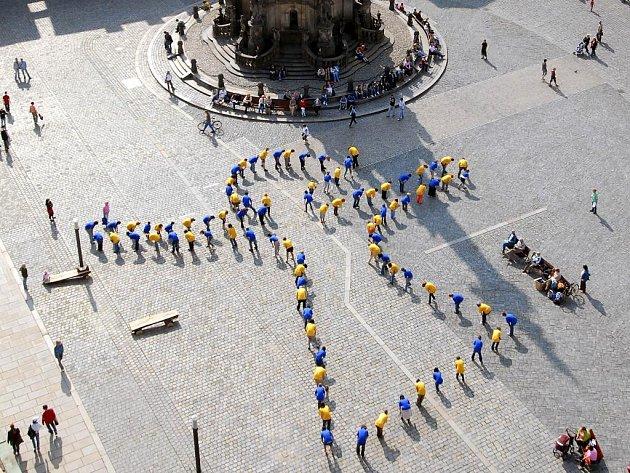 6ivý obraz na olomouckém náměstí.