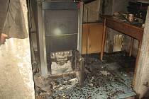Požár kotelny v Unčovicích