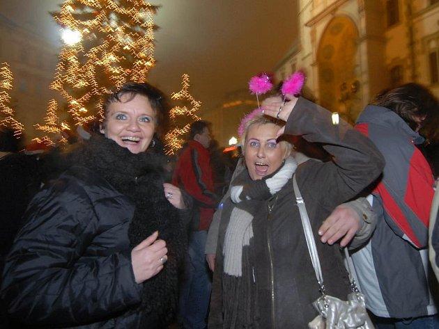 Silvestrovské oslavy na Horním náměstí v Olomouci