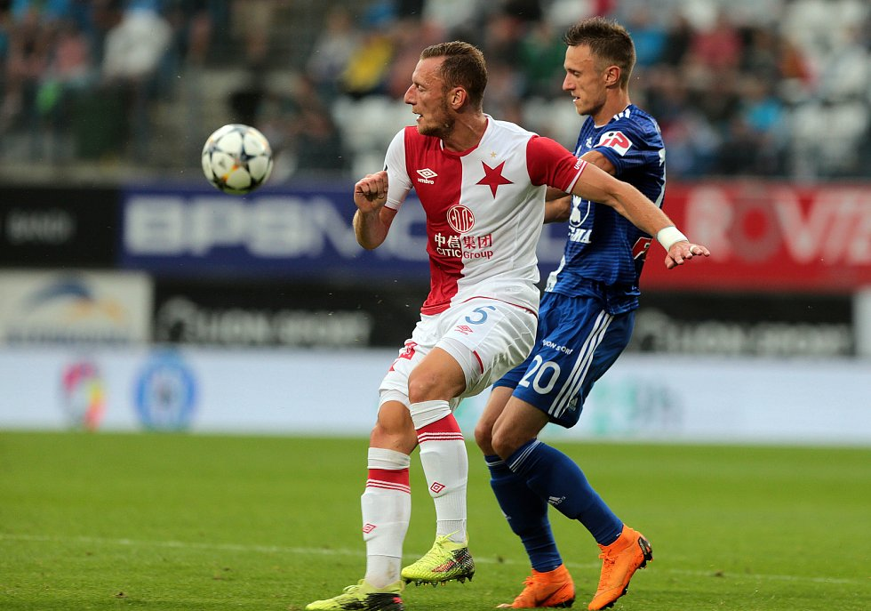 SK Sigma - Slavia Praha. Vladimír Coufal, Šimon Falta