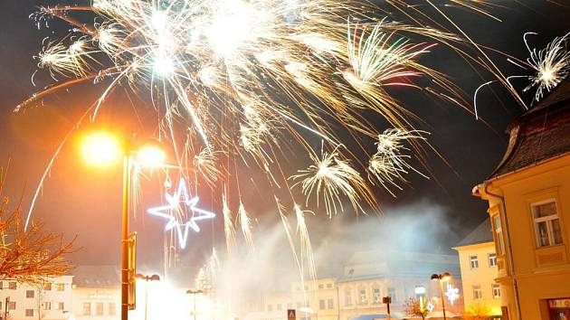 Vítání nového roku ve Šternberku. Ilustrační foto