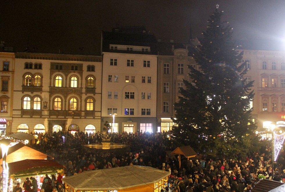 Rozsvícení vánočního stromu v Olomouci, 23. listopadu 2018