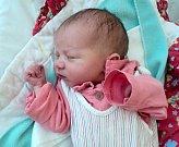 Melissa Mádrová, Olomouc, narozena 15. srpna ve Šternberku, míra 48 cm, váha 2730 g