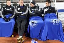 Tomáš Malec druhý zleva na lavičce Sigmy