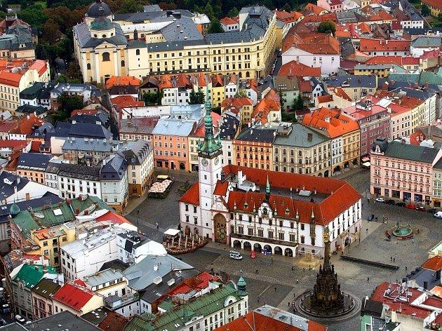 Část historického centra Olomouce. Ilustrační foto