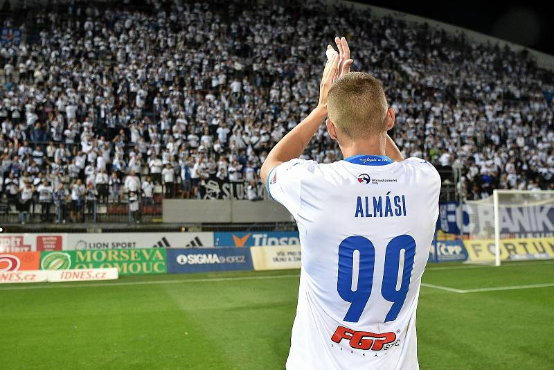 Utkání 8. kola první fotbalové ligy: SK Sigma Olomouc - FC Baník Ostrava 17. září 2021 v Olomouci. Ladislav Almási z Ostravy.