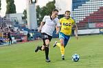 Fotbalisté olomoucké Sigmy nastoupili proti Teplicím v unikátních bíločerných retrodresech. Šimon Falta, Admir Ljevakovič