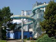 Tobogán na plaveckém stadionu v Olomouci