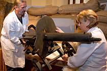 Příprava výstavy Tváře Velké války ve Vlastivědném muzeu v Olomouci
