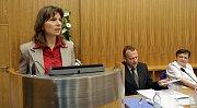 Dominika Kovaříková, lídryně Občanů pro Olomouc. První zasedání nového olomouckého zastupitelstva