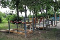 Dětské hřiště v Řepčíně u bývalé chirurgie