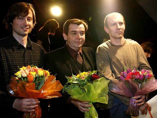 Na festival Divadelní Flora letos zavítají i čerství držitelé Ceny Alfréda Radoka za mužský herecký výkon: zleva Jaroslav Plesl, Erik Pardus a Martin Finger.