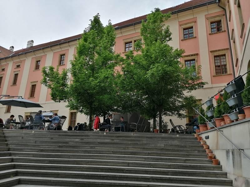 Filmová místa v Olomouci. Parkán jezuitského konviktu