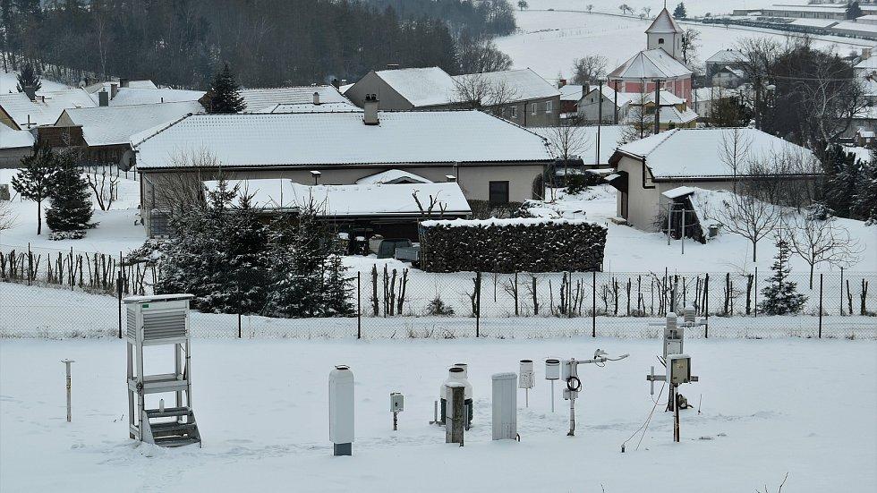 Meteorologická stanice v Luké na Olomoucku, 13. 2. 2020