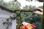 Následky nočních bouřek v Olomouckém kraji, 21. 8. 2019