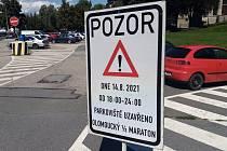 Olomoucký půlmaraton tradičně uzavře některé ulice a průjezdy v části města. Ilustrační foto
