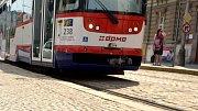 Oprava tramvajové trati v ulici Jindřišská; 8. června.