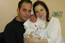 Radek Vyroubal, narozen 13.1.2008 v Olomouci, váha 2600 g, míra 48 cm, Olomouc