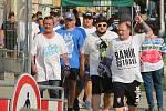 Fanoušci ostravského Baníku v Olomouci. Ilustrační foto