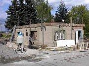 Dobrovolní hasiči v Hradečné: stavba klubovny