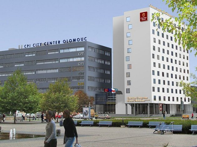 Vizualizace multifunkčního centra a zrekonstrovaného hotelu Sigma