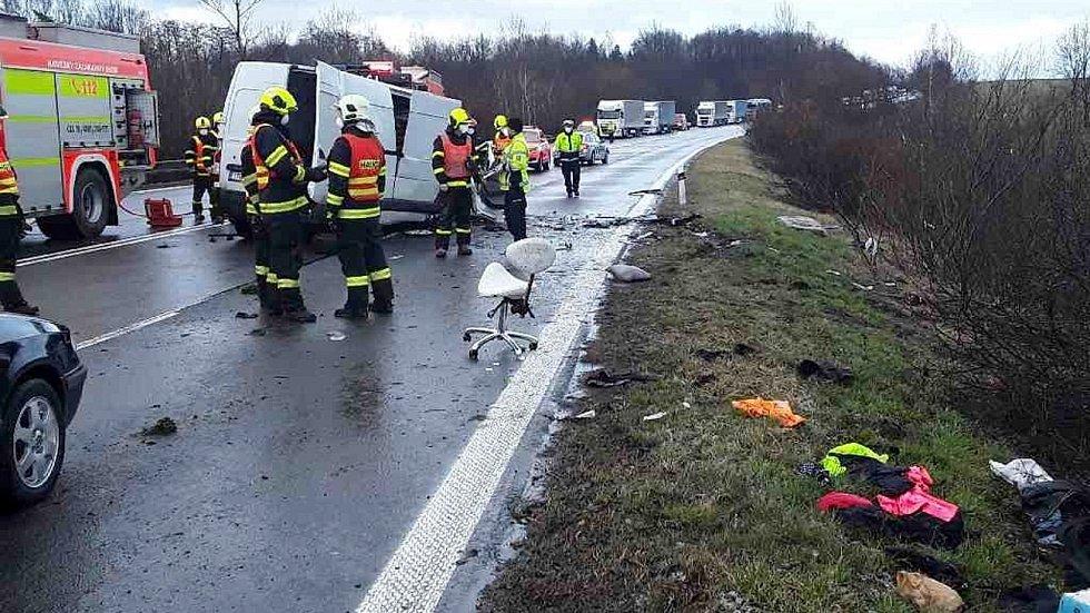 Nehoda na I/48 u Hranic, 16. března 2021