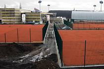 Stavba Centra sportu a zdraví v areálu Sigmy u Androva stadionu.