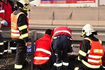 Likvidace následků dopravní nehody se zraněním na obchvatu Olomouce