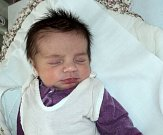 Viktorie Neumannová, Olomouc, narozena 6. srpna ve Šternberku, míra 50 cm, váha 3460 g
