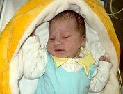 Jakub Adámek, Olomouc, narozen 22. listopadu ve Šternberku, míra 50 cm, váha 3560 g