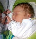 Jan Cvek, Uničov, narozen ve Šternberku, míra 48 cm, váha 3440 g