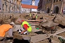 Archeologiocké bádání na Dolním náměstí. Ilustrační foto
